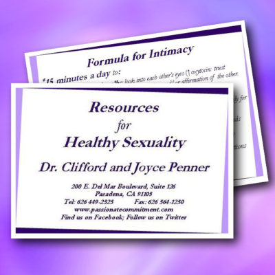 Formula for Intimacy Cards